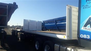 Henred 6m+12m flat deck super link trailer