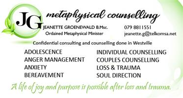 Counselling, Anxiety, Trauma and Loss