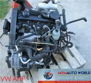 Imported used VW GOLF 1.9L 4 CYL TDI, AHF engine Complete