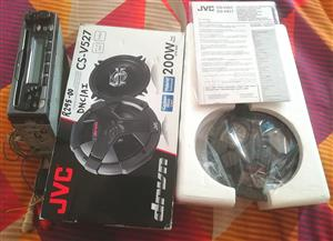 Car radio and JVC Speakers