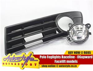 Polo Foglights Raceline - 06upward Facelift models - sold as a pair  -does not fit polo vivo