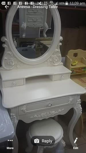 White dresser with mirror for sale