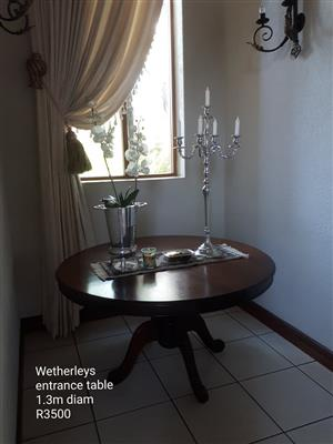 Wetherly's wooden entrance table for sale