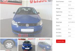 2010 VW Polo Vivo 5 door 1.4 Trendline