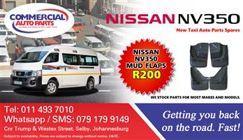 Mud Flaps For Nissan NV350 Impendulo For Sale.