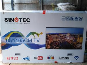 """65"""" Smart TV with Netflix, wifi router and wall bracket"""