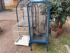 Large blue cage for sale