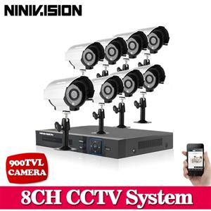 8CH CCTV Security DVR 4 Outdoor Night Vision Camer