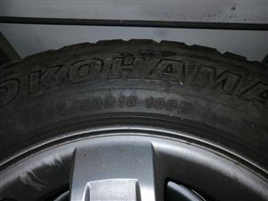 16inch Kia sportage rims and tyres