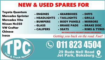 New And Used Taxi Spares