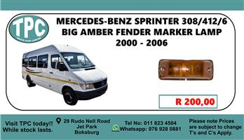 Mercedes-Benz Sprinter 308/412/6 Big Amber Fender Marker Lamp 2000 - 2006 - For Sale at TPC.