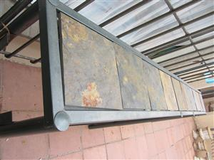 Steel Slate Tile Counter