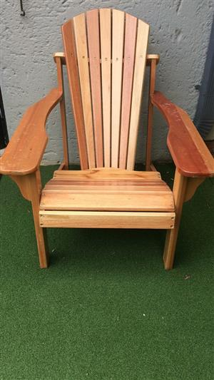 4x Large wood recliner chairs