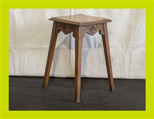 Vintage Oak Side Table - SKU 155