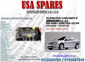 CHRYSLER NEON 1.6 – 2.0 USED ENGINES AND ENGINE SPARES