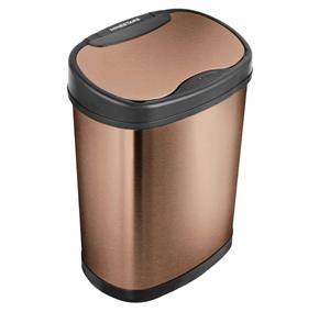 50L Automatic Motion Sensor Touchless Stainless Steel Kitchen Dustbin - Golden