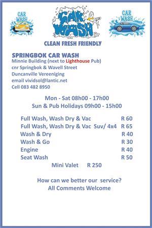 Car Wash Vereeniging