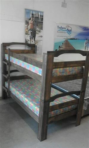 Double bunk Beds with mattress for R2999-(YOU CAN PAY AT HOME))