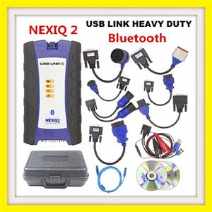 TRUCK DIAGNOSTIC NEXIQ-2 USB Link Bluetooth with Software, Diesel Truck Interface and All adaptors