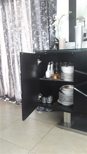 Glass and chrome 10 Seater dining room set for sale  Krugersdorp