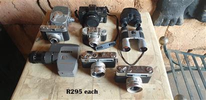 Vintage Cameras and Binoculars R295 EACH