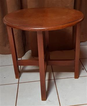 2 x Beautiful old solid wood side tables