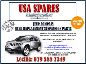 JEEP COMPASS USED REPLACEMENT SUSPENSION PARTS, USA SPARES CALL NOW