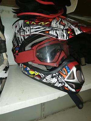 Multi colored helmet for sale