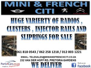 HUGE VARIETY OF RADIOS ,CLUSTERS, INJECTOR RAILS AND SLIP RINGS FOR SALE