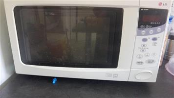 White LG Microwave for sale