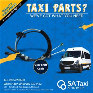 Gear Shift Cable for Mercedes Sprinter - SA Taxi Auto Parts quality used spares
