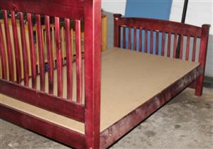 Double wooden bed S031230B #Rosettenvillepawnshop