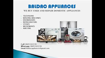 We Buy and Repair used Domestic Appliances
