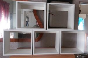 5 Wooden cabinets. R100 each.