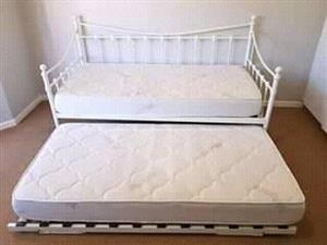 Large bed with frame