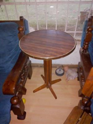 Wooden round side table for sale