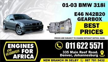 Used BMW 318i M43 01-03 5speed Gearbox FOR SALE