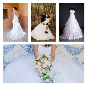 Wedding dresses for hire, prices range from R1500 - R4000