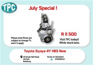 Toyota Siyaya 4Y HBS New for Sale at TPC