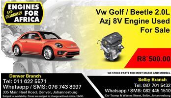 Vw Golf / Beetle 2.0L Azj 8V Engine Used For Sale.