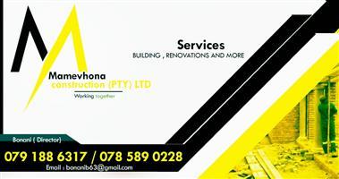 Mamevhona construction (Pty) Ltd