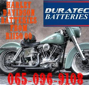 Harley Davidson Batteries with 1 year warranty From R 1150.00