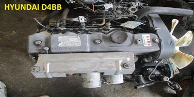 USED SECOND HAND LOW MILEAGE QUALITY ENGINES -  HYUNDAI H100 2.6L DIESEL - D4BB