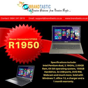 Mecer Xpression VY050 Laptop @ R1950 | Junk Mail