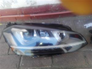 VW Golf-7 LED xenons Headlights for sale.