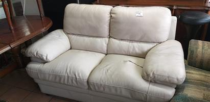 2 Seater couch leather