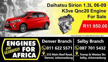 Daihatsu Sirion 1.3L Dohc K3ve 06-09 Engine For Sale