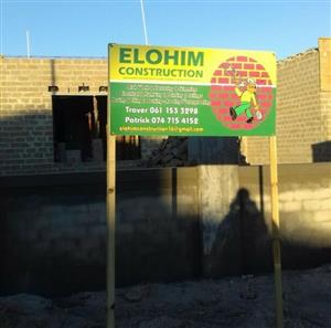 Elohim Construction offers construction work and also monitor projects
