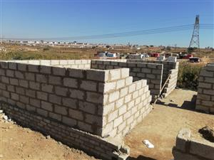 Stand with unfinished structures Ivory Park 3 Tembisa ONLY CASH BUYERS