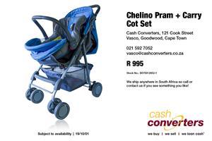 Chelino Pram + Carry Cot Set
